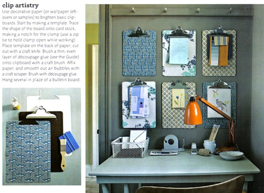 Clipboard organization - Martha Stewart Magazine